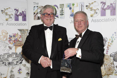 Patrick Fuller (left) with Simon Rainer, Chief Executive of The British Jewellers' Association.