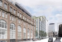 A closer view of the development from Ludgate Hill.