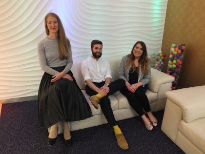 Creative Marketing Team LtoR Naomi Newton-Sherlock, DW and Chantelle Serrell-Cooke
