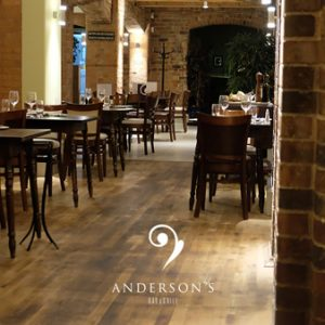 Anderson's Amongst 50 Most Romantic Restaurants in the UK in 2020