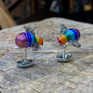 Rainbow Bumble Bee Cufflinks