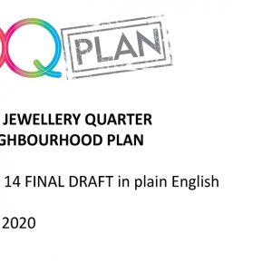 The Jewellery Quarter Neighbourhood Plan