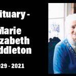 Editorial / Obituary Marie Elizabeth Haddleton 1929 - 2021